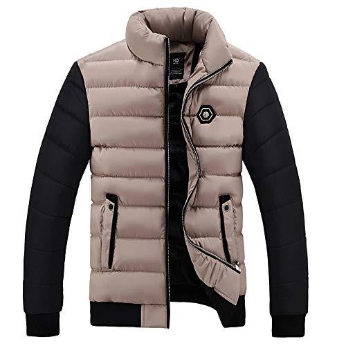 Kanpola Herren Jacke Übergangsjacke Warme Gefütterte Winterjacke mit Kapuze Outdoor Männer Dicker Wintermantel Parka Jacken