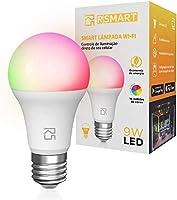 Smart Lâmpada Inteligente RSmart Wi-Fi LED 9W Branco Frio e Quente RGBW Compatível com Alexa…