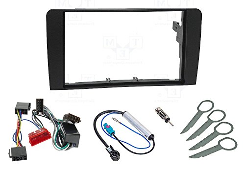 AudioPro Ject A249/  / 1-DIN Car Radio Fascia Smart Fortwo BR 450/ 1998-2007/ without metal Slot Mounting Frame Blue