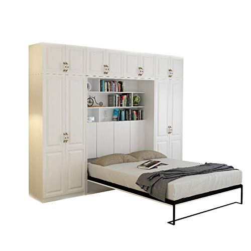 TWW Multifunctional Folding Invisible Wall Bed Storage Hidden Bed Flip Bed Folding Invisible Wardrobe Bed Folding Bed,B