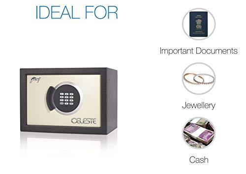 Godrej Security Solutions Celeste Digital 14 Steel Safe Locker (White, Metal)