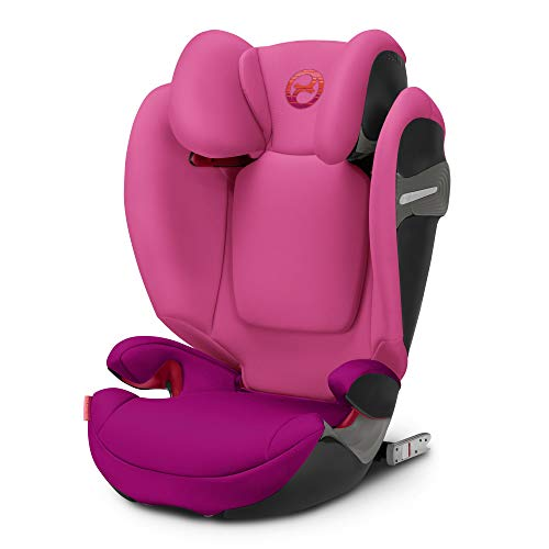 Cybex Gold - Silla de coche para niños Solution S-Fix, para coches con y sin isofix, grupo 2/3 (15-36 kg), desde los 3 hasta los 12 años aprox., passion pink