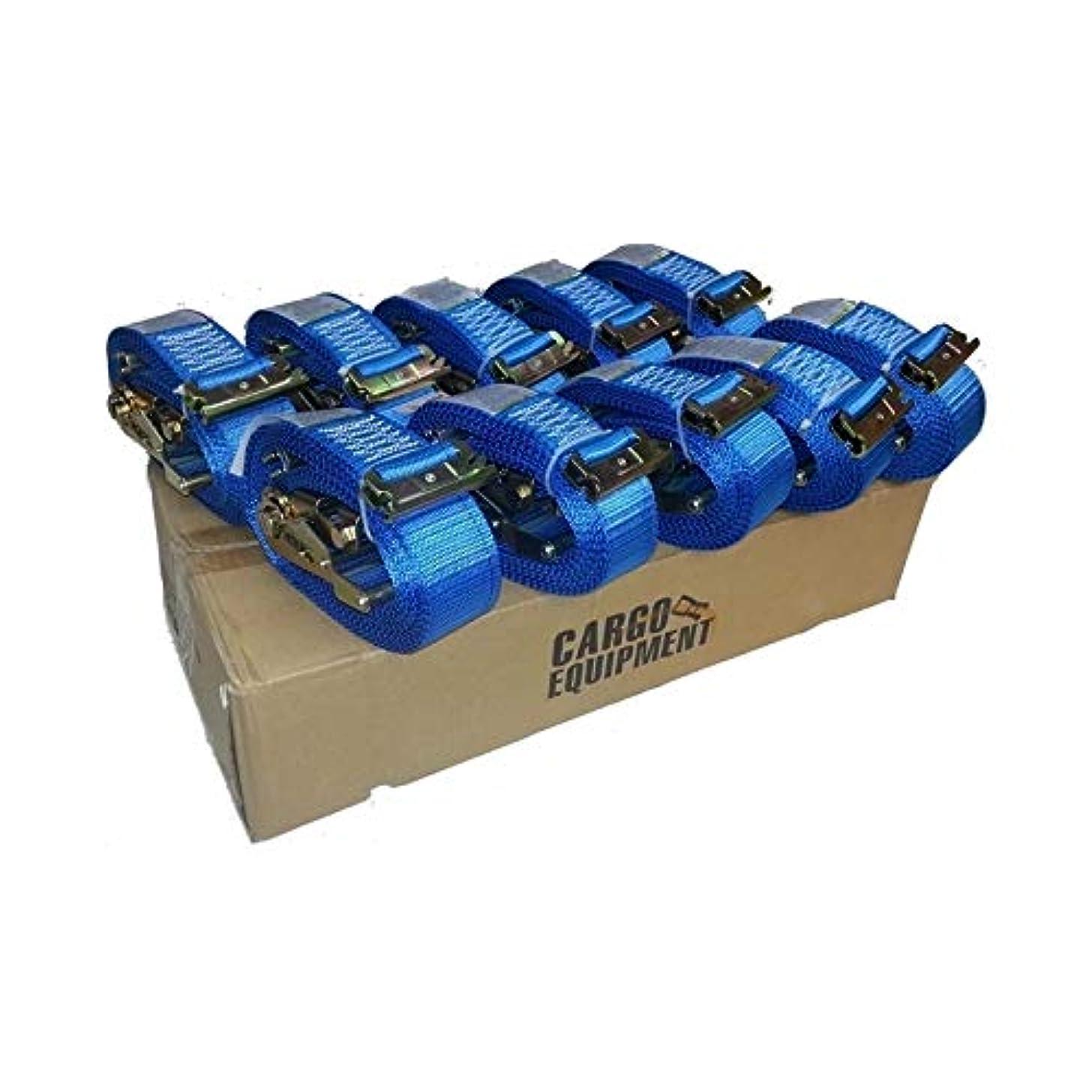 BOX OF 10 E-TRACK RATCHET STRAP 20 FOOT(BLUE)