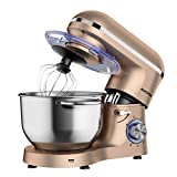 Aucma Stand Mixer,6.5-QT 660W 6-Speed Tilt-Head Food Mixer, Kitchen...