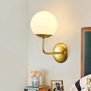 Aplique pared LED Bola Luz de pared, Lámpara de pared moderna industrial, Moderno Cobre Vaso Globo Apliques de Pared, para Salon Dormitorio Sala Pasillo Escalera