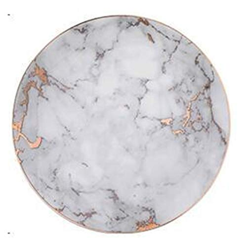 Naikaxn Plato de Cena 1PCS Vajilla de mármol Placas de cerámica vajilla...