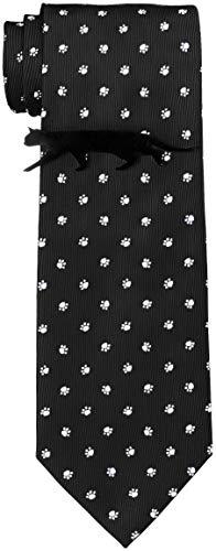 [ドレスコード101] 猫好きさん必見 ネコのネクタイとネコのタイピンの2点セット ボックス付 プレゼント ギフト メンズ おもしろ 洗える ネクタイ 可愛い ネクタイピンおしゃれ 猫 ねこ 通勤 ビジネス ネクタイ&タイピンセット にくきゅう×ブラック
