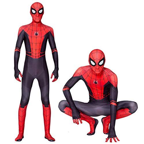 CYwinterB Spider-Man: Far from Home Disfraz de Cosplay Unisex Adultos Nios Onesies Lycra Spandex Traje con Estampado 3D Mono Body Medias de superhroe Disfraces Zentai Nios Siamese Tight Unidos
