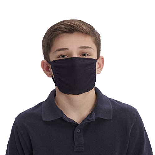 No Nonsense unisex child Face Mask Handkerchief, Black/Black/Navy/Navy/Grey, Youth US