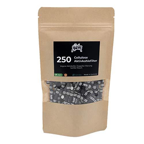 KAiLAR 250 BLACK Cellulose Aktivkohlefilter Slim (5.9mm) mit Kokosaktivkohle