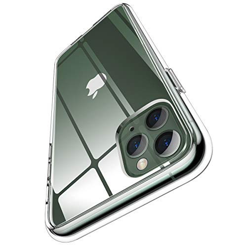 Meifigno Clear Designed for iPhone 11 Pro Case [Certified Military Protection][Anti-Yellow], Clear Hard PC with Soft Edges, Protective Clear Case Compatible with iPhone 11 Pro 5.8 Inch (2019), Clear