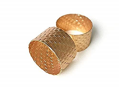 Emunah Serviettenringe, goldfarben, 6er-Set – Vintage-Serviettenringe für alle Anlässe Rund Gold matt
