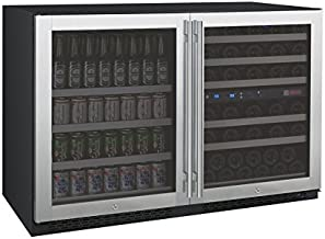 Allavino 3Z-VSWB24-3SS Flex Count Series Side-by-Side Wine Refrigerator and Beverage Center Stainless Steel