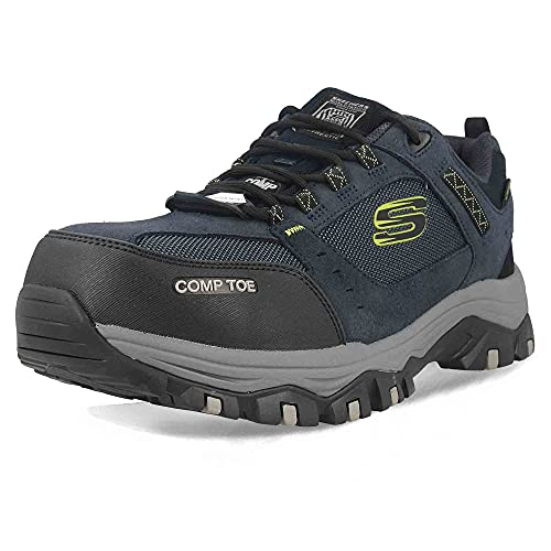 Skechers Men's GREETAH Trainers, Blue (Navy Suede Leather W/Textile Nvbk), 8 UK...