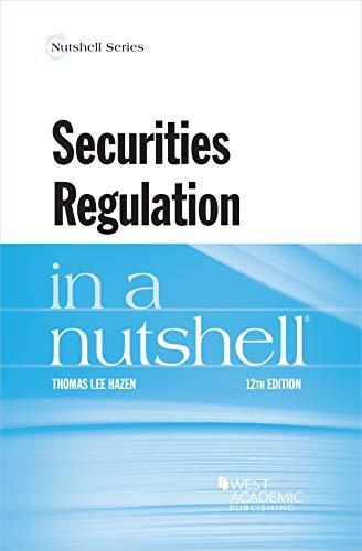 Securities Regulation in a Nutshell (Nutshells) (English Edition)