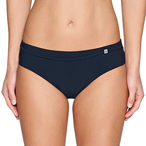 Marc O'Polo Body & Beach Damen Bikini-Slip Bikinihose, Schwarz (Blauschwarz 001), 38 (Herstellergröße: 038)