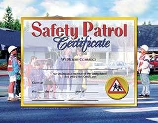Hayes School Publishing VA568 Safety Patrol Certificate- Set of 30 8.5'' X 11'' Certificates