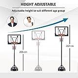 Immagine 2 homcom canestro basket altezza regolabile