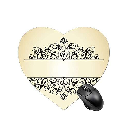 Gaming Mouse PadBorde negroSobremesa y portatil 1 Paquete de Alfombrilla para raton en Forma de corazon