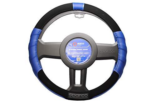 Sparco 8430046066364 Coprivolante Sport Line, Blu, Set di 4