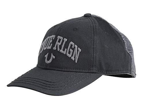 True Religion Herren Arched Logo Baseball Cap, schwarz, Einheitsgröße