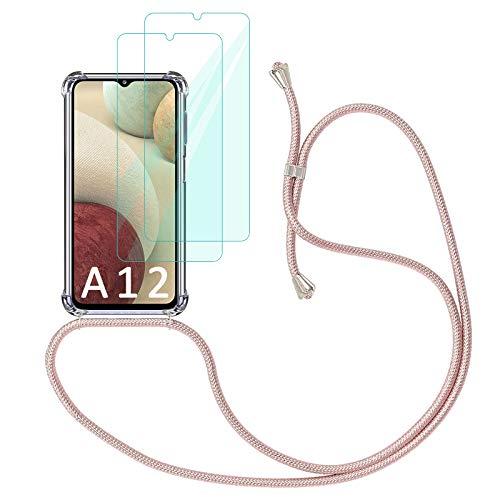 Yohii Funda con Cuerda para Samsung Galaxy A12 /M12 + [2 Pack]...