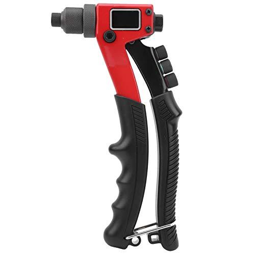 Rivettatrice cieca, pistola per rivetti a mano stabile, interruttore rimovibile antiscivolo in gomma + acciaio per montacarichi di automobili