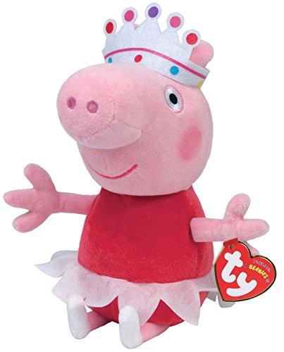 TY 7146151 - Peppa Baby - Ballerina, Schwein mit rotem Kleid, Krone und Tutu, 15 cm