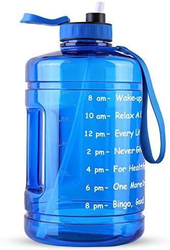 128OZ/1 Gallon Large Water Bottle, Hadisala Wide...