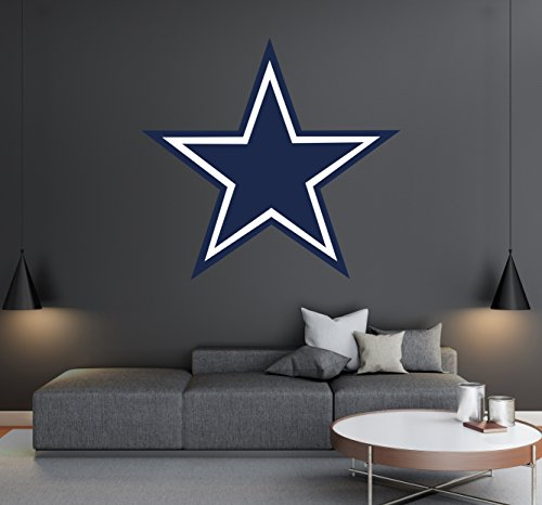 Dallas Cowboys - Football Team Logo - Wall Decal Removable & Reusable For Home Bedroom (Wide 20'x20' Height)