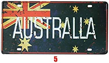 Guadalupe Ross Metal Tin Sign New Australia Vintage Retro Wall Sign Plaque Poster Car License Plate Souvenir Wall Decor Metal Sign 12x6 Inches
