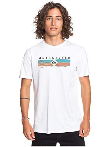 Quiksilver Herren Screen Tee Distant Fortune - T-Shirt Für Männer, White, L, EQYZT05764