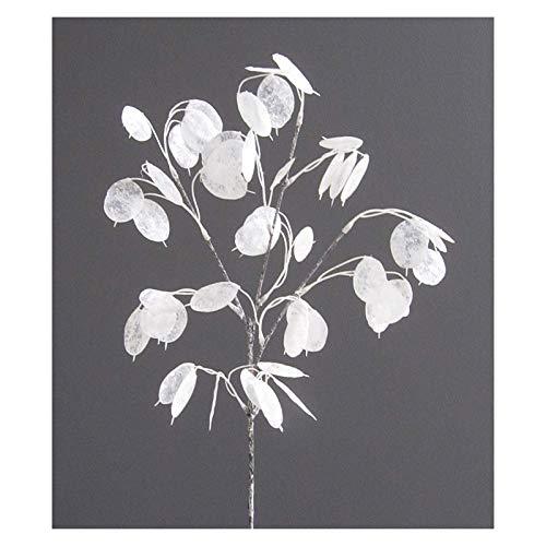 Kunstpflanze PFENNIGBLATTZWEIG ca 78 cm. GEEIST, gefrostet. Glückstaler, Geldbaum.