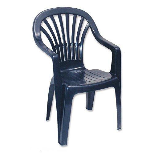 Ipae Zena stapelbar Hohe Rückenlehne Sessel, blau, 55x 56x 89cm
