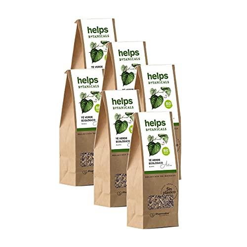 HELPS INFUSIONES - Té Verde A Granel 50% Natural. Infusión Diurética, Antioxidante, Quemagrasas Y Adelgazante. Bolsa A Granel De 50 Gramos. Pack de 6
