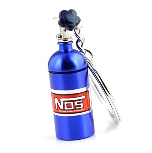 KingDao, porte-clés d'une bouteille métallique de protoxyde d'azote miniature, pour clés de voiture