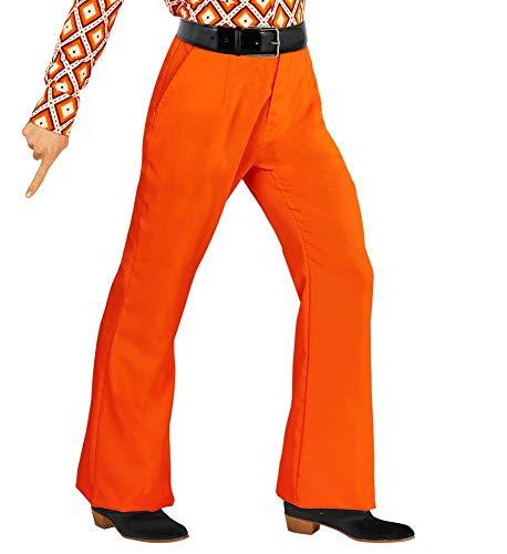 shoperama Costume da discoteca anni '70, stile retrò con e senza motivo, da discoteca, da uomo, taglie: S/M, colore: arancione