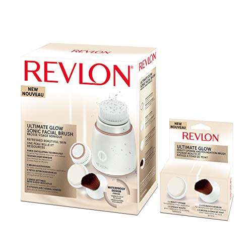 REVLON RVSP3538 Ultimate Glow Brosse Visage Sonique + RVSP3538FB Brosses Nettoyantes de Rechange