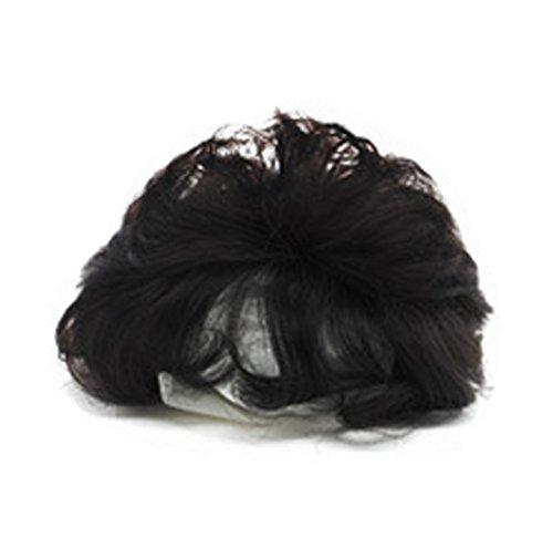 Topjin 13 cm/12,7 cm Clip Fluffy en short pour femme Cheveux bouclés Cheveux humains Top Extensions de cheveux postiches