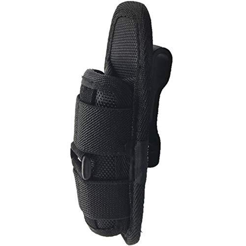 Ploufer Funda para Linterna, Soporte de Bolsa de Nylon Protector Duradero con cinturón y Clip de Cintura Giratorio de 360 ° para iluminación portátil al Aire Libre, Resistente a los arañazos, Negro