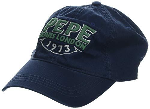 Pepe Jeans SHERAZ Cap Gorra de béisbol, Azul (Deep Sea 597), Talla Unica (Talla del Fabricante: 000) para Hombre
