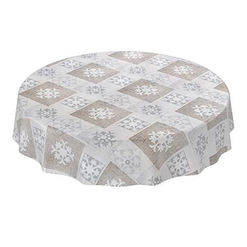ANRO tafelkleed wasdoek afwasbaar wasdoek tafelkleed wastafelkleed ruiten grijs beige textiellook