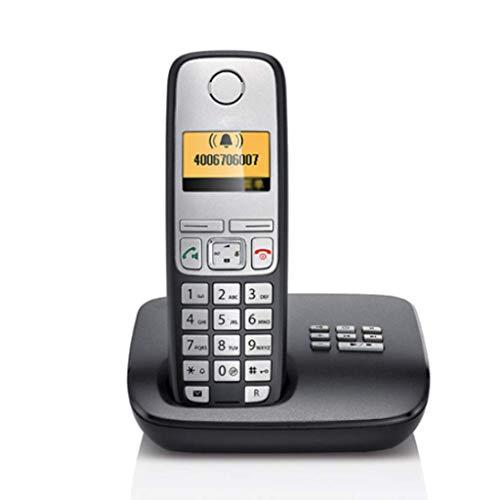 GUOOK TeléFono BotóN Vintage TeléFono InaláMbrico Expansible AnfitrióN TeléFono Individual Oficina En El Hogar TeléFono Fijo Llamadas Manos Libres Bienvenido (Color: Naranja): Amazon.es: Hogar