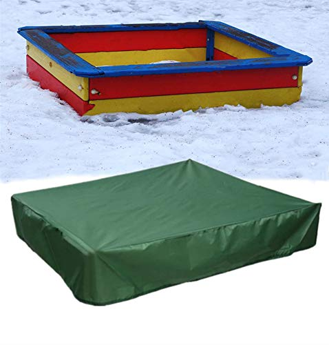 Waterproof Sandbox Cover - Winter Square Sandpit Pool Protector for Sand and Toys Away from Dust and Rain, 190T Heavy Duty Outdoor Accessories (S:47'x47'x8')
