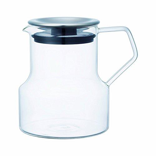 Kinto theepot van glas met zwart deksel