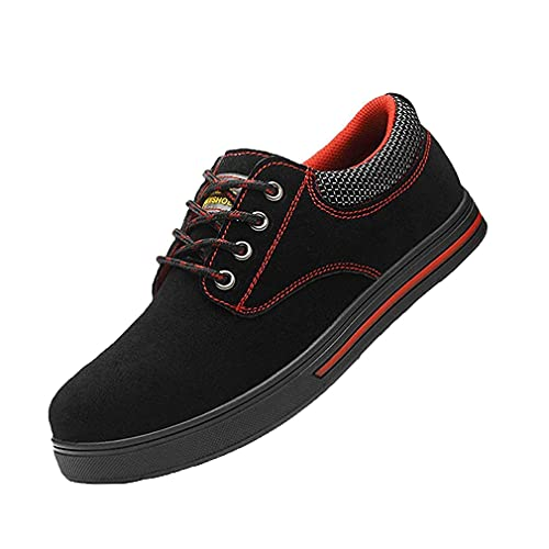Hombre Zapatos de Seguridad - Zapatillas de Trabajo con Punta de Acero Ligeros Calzado de Industrial y Deportivos Transpirables Anti-Piercing Zapatos de Trabajo
