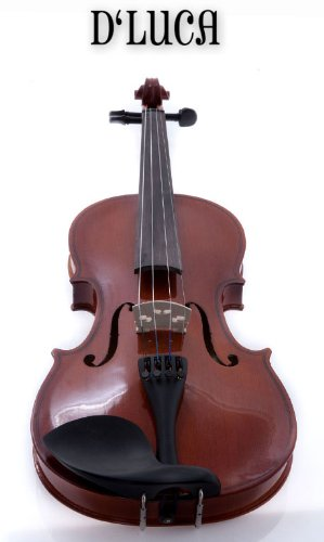 D'Luca DL-45012 Meister Ebony Fitted Beginner Violin Outfit 1/2