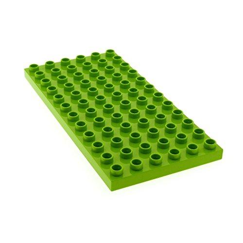 Bausteine gebraucht 1 x Lego Duplo BAU Basic Platte Lime hell grün 12 x 6 Noppen 6x12 für Set 10606 10617 10616 6100462 18921 4196