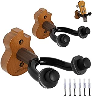 Ukulele Wall Mount Hanger stand 2pack wooden fits Mandolin Ukele, Banjo Hanger,Ukulele Keeper in home and Studio,Music sho...