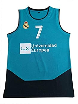 Luka Doncic 7 Real Madrid Dallas Teal Half Basketball Jersey Stitch Primo  54